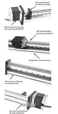 Linear Stage Slide Actuator Motion Table 400MM Ball Screw SFU1605 Stepper Motor