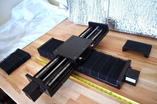 Lintech 150 Series Linear Ballscrew Actuator Xy Stage With Nema23 Motor Mounts Cnc