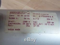 Magnetic SKF Linearmotor HD45 UB 01 Magpush SKF Hubzylinder 1500N 260mm 380V