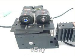 Melles Griot NanoMax-TS 17MAX303 XYZ 3-AXIS Stage with 3 DRV001 Stepper Motor driv