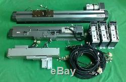 NSK XYZ 3 AXIS ROBOT MODULE with Panasonic SERVO AC MOTOR & DRIVER + CABLE (#2450)