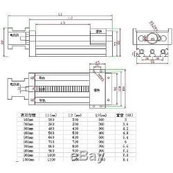 New Ball Screw Linear CNC Slide Stroke 100mm Long Stage Actuator Stepper Motor