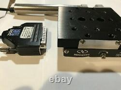 Newport 460A series Linear Stage with motorized Actuator TRA25CC 3.5 x 3.5