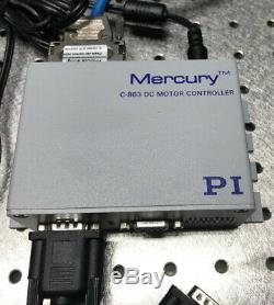 PI / MICROS RS-40 ROTARY STAGE With MERCURY C-863 DC MOTOR CONTROLLER, BEAUTIFUL