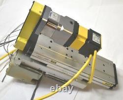 Parker 404300XRMSD2H3L2C1M11 Linear Actuator Positioner Stage withMotor (REF A)