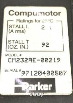 Parker CM232AE-00219 Motor, RSF Elektronik MSA001-7 Encoder, & Linear Actuator
