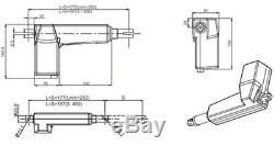 Präzisions Linear Linearantrieb Antrieb Actuator Hubmotor 24V