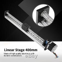 Precision Sliding Table Ball Screw Linear Stage Slide 400mm for NEMA 23 Motor