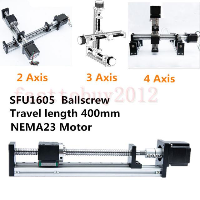 Sfu1605 Ball Screw Cnc Linear Slide Stroke Stage Actuator Stepper Motor L=400mm
