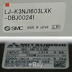 SMC 1.6 meter 160cm Travel Linear Actuator Mitsubishi 750W AC Motor NSK 2m rails