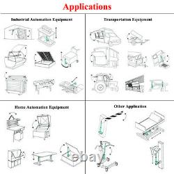 Set of 2X Heavy Duty 10 Stroke Linear Actuator 330lbs 12V DC Motor for Car Door