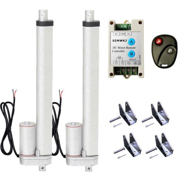 Set Of 2 350mm 14 12v Linear Actuators & Wireless Motor Controller For Tv Lifts