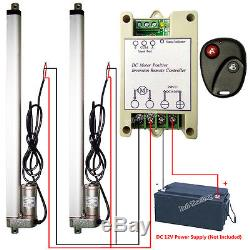 Set of 2 400mm 16 12V Linear Actuators & Wireless Motor Controller for TV Lifts