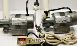 Set of 2 Emerson Gearmaster Electric Lift Actuator Auger Motor w Controller#1188