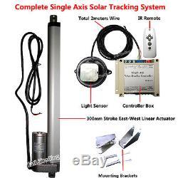 Single Axis Solar Tracking &Controller&12 Linear Actuator 12V Motor Sun Tracker