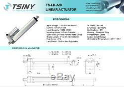 Stroke 1000mm 40 Electric Linear Actuator 12V 750N DC Reciprocating Motor