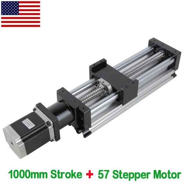 Stroke 1000mm Ball Screw Linear Cnc Slider Long Stage Actuator Stepper Motor