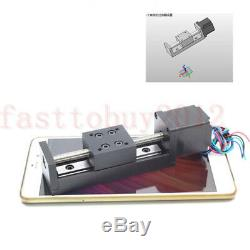 T6 Mini LeadScrew 12mm Pitch Slide Stage Linear Actuator Stepper Motor 50-200mm