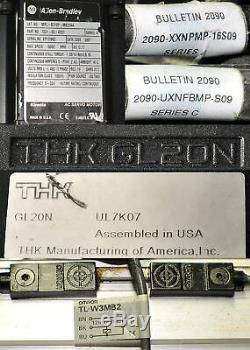 THK GL20N Linear Actuator 46cm Travel Allen-Bradley MPL-B310P-MK22AA Servo Motor