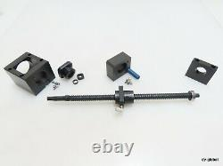 THK USED BNK1510+370L With Nut Bracket and Motor Mount FK12 Ground Ball Screw
