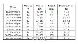 Telescopic Linear Actuator Kit Remote Control Metal Gear Reduction Motor 555 DC