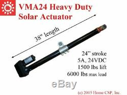 USA Solar Tracker Tracking 24 Heavy Duty Linear Actuator 1500lbs 24V DC Motor