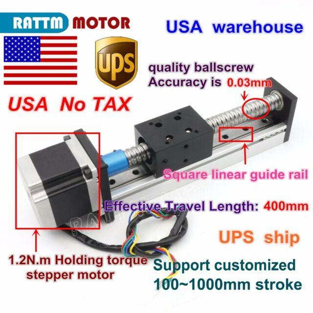 Ussfu1605 Ball Screw 400mm Slide Stroke Linear Precision Z-axis +stepper Motor