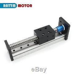 US 1605 CNC Ball Screw Linear Slide Stroke L400mm Z Axis &Nema23 Stepper Motor