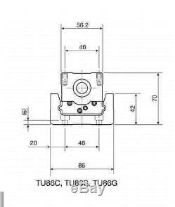 Vexta PK566H-B stepper motor / brake IKO TU86 ballscrew linear slide actuator
