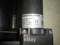 Warner K2xG20-115V-18 Linear Actuator with Warner 027-0188-115-01 Electric Motor