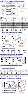XYZ Axis Heavy Load Linear Rail Slide Cross Motion Actuator SFU1605 Ballscrew C7